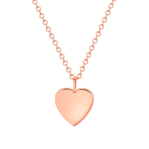 rose gold dainty heart necklace