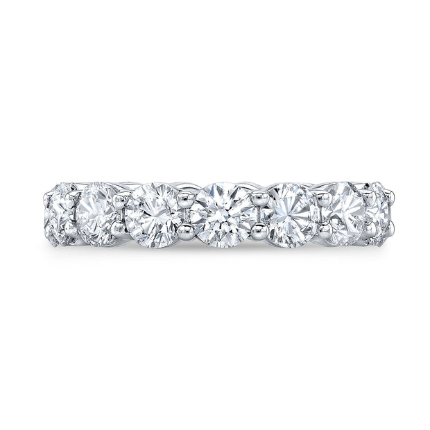 4.00 Ct. Round Brilliant Diamond Eternity Band Wedding Ring G Color VS1-VS2 Clarity