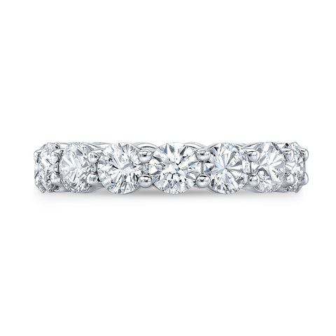 4.0 Ct. Round Brilliant Diamond Eternity Band Wedding Ring F-G Color VS2 Clarity