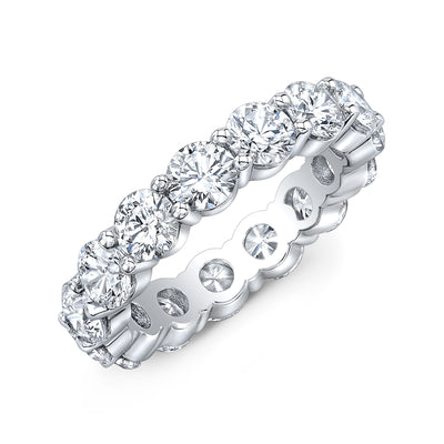 5.0 Ct. Round Brilliant Diamond Eternity Band Wedding Ring G Color SI1 Clarity