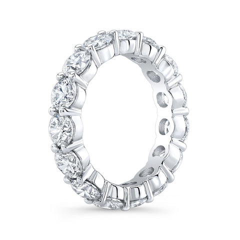 7.0 Ct. Round Diamond Eternity Band Wedding Ring G Color SI1 Clarity Excellent Cut