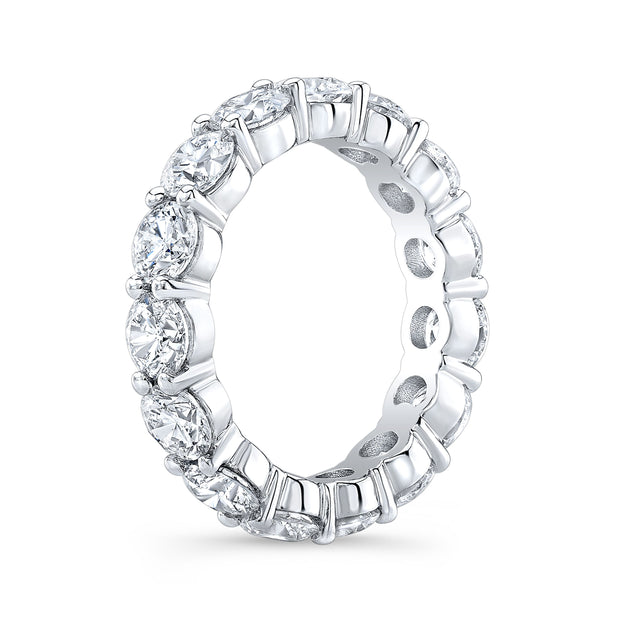 7.0 Ct. Round Diamond Eternity Band Wedding Ring profile view