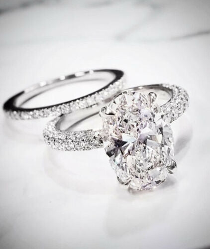 1.35 Ct. Oval Cut Micro Pave Under-Halo Diamond Engagement Ring H, VS2 GIA Certified