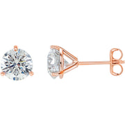 1.40 Ct. Round Cut Martini Diamond Stud Earrings G Color VS1 GIA Certified 3X