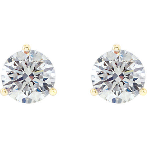 0.60 Ct. Martini Style Round Brilliant Cut Diamond Stud Earrings