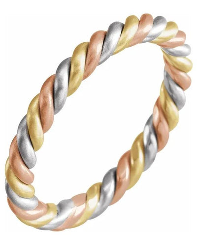 Tri-Color Rope Ring