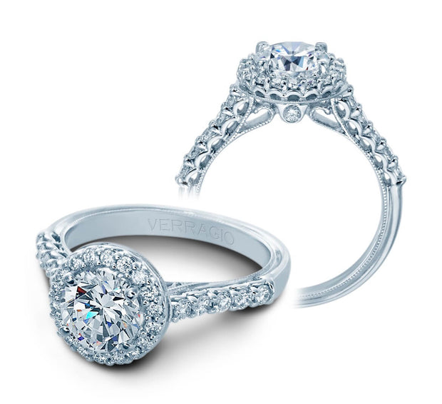 Verragio Classic Collection 0.50 ct. Round Brilliant Cut Diamond Halo Engagement Ring Setting
