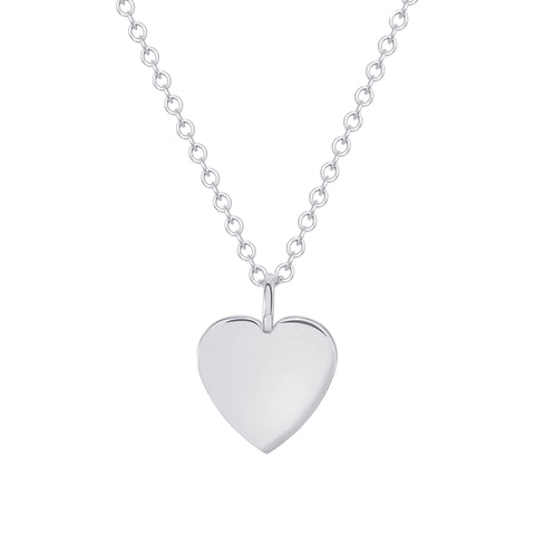 white gold dainty heart necklace