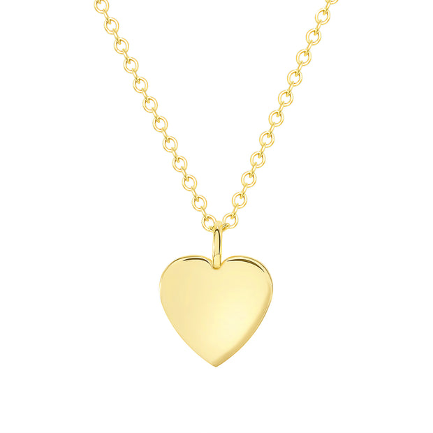 yellow gold dainty heart necklace