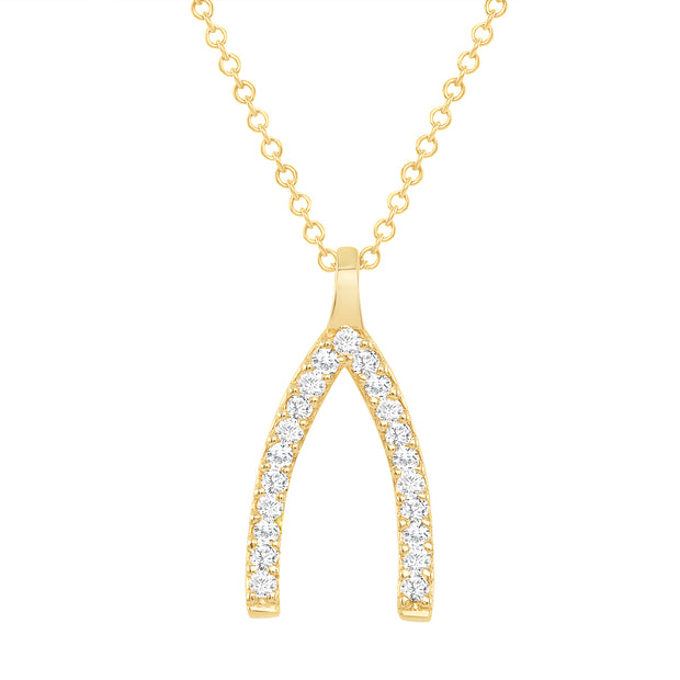 yellow gold diamond horse shoe necklace