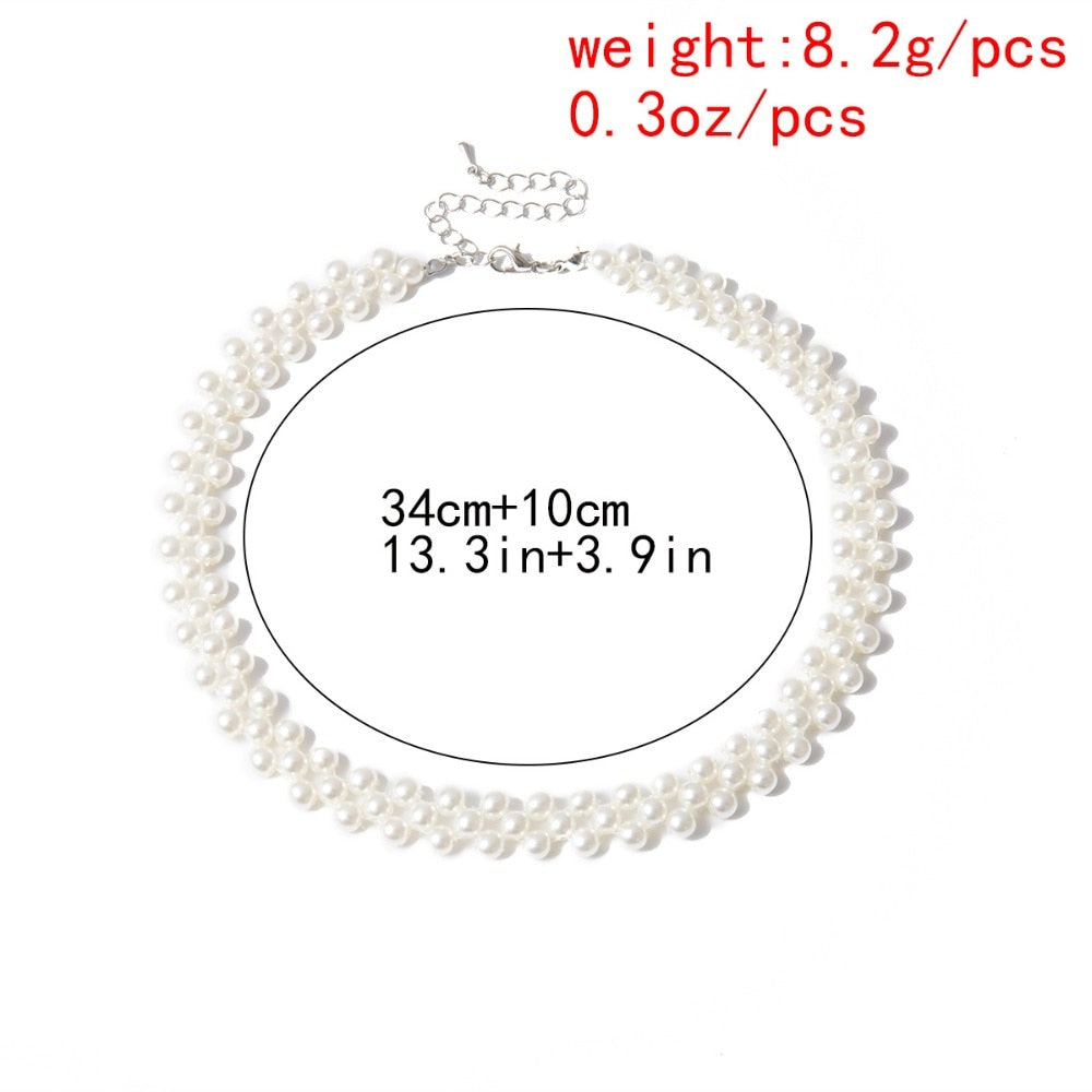 Bohemian Simulated Round Pearl Choker Necklace - ALFSIXTYONE