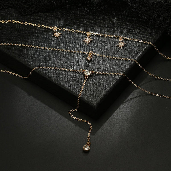 Multi-Layer Choker Collar Chain Necklace - ALFSIXTYONE