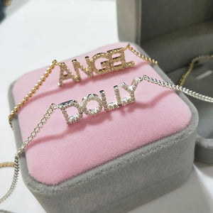 Crystal Custom Name Necklaces - ALFSIXTYONE