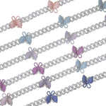 Luxury Bling Bling Iced out Butterfly choker necklace - ALFSIXTYONE
