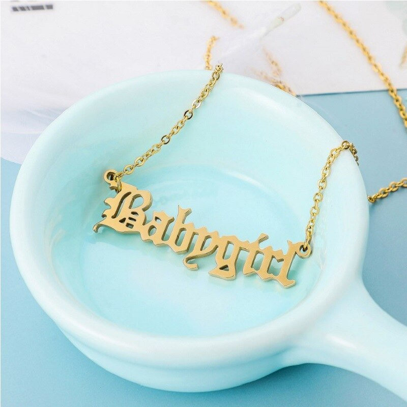 Unique Old English Baby/Zodiac Letter Necklace - ALFSIXTYONE