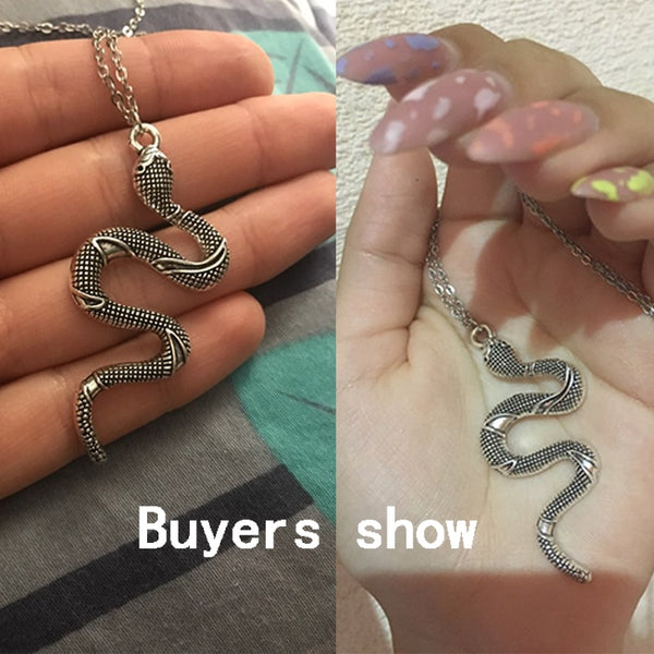Stainless Steel Snake Necklace - ALFSIXTYONE