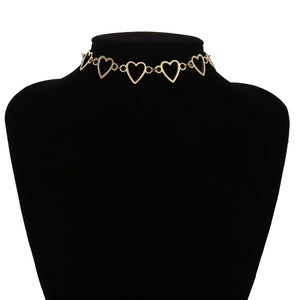 Sweet Love Heart Choker Necklace - ALFSIXTYONE