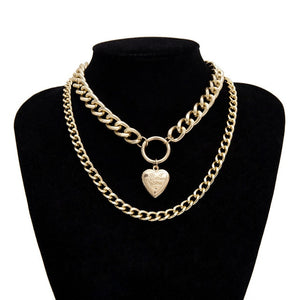 Heart Pendant Choker Necklace - ALFSIXTYONE