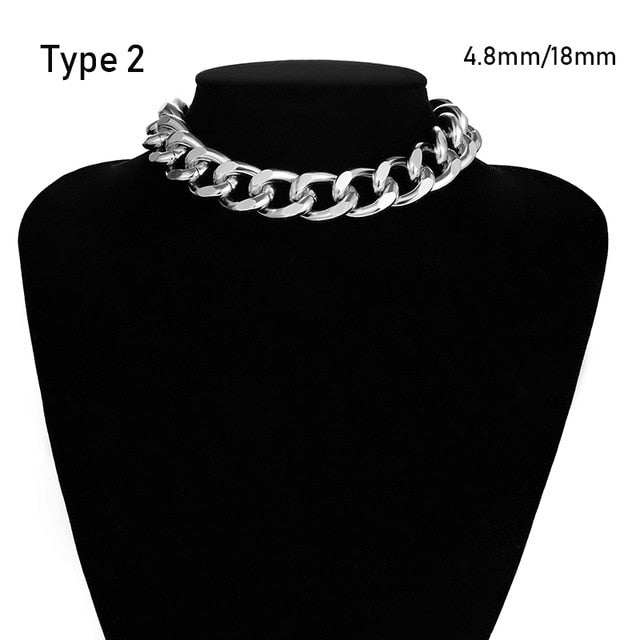 Thick Chain Choker Necklace - ALFSIXTYONE