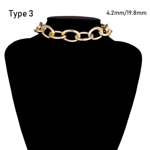 Thick Chain Choker Necklace
