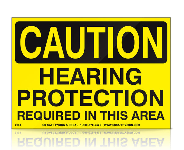 Hearing Protection Required - OSHA - (3.5 x 5) - V0162