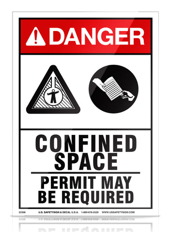 Confined Space - ANSI - (10 x 14) - 22306M