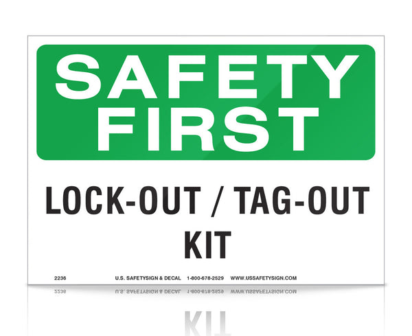 Lock-Out/Tag-Out Kit - OSHA - (7 x 10) - V2236