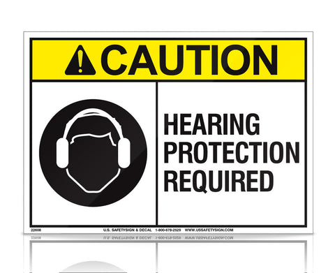 Hearing Protection Required - ANSI - (7 x 10) - 22608V
