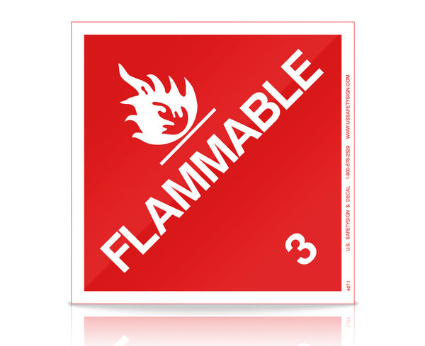 Flammable - (11 x 11) - V4011