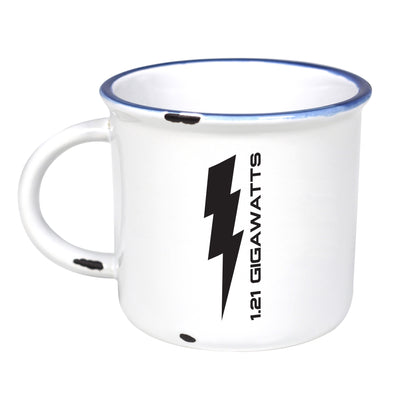 1.21 Gigawatts - Ceramic Camping Mug with Light Distressed Look