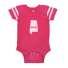 born. Football Baby Bodysuit - Alabama