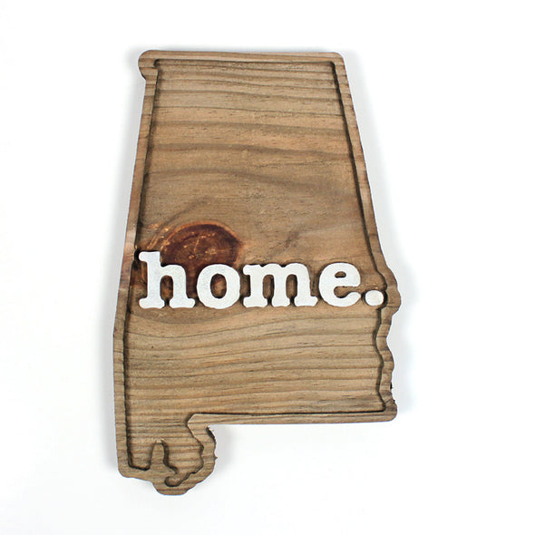 home. Wooden Plaques - Alabama