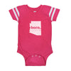 born. Football Baby Bodysuit - Arizona