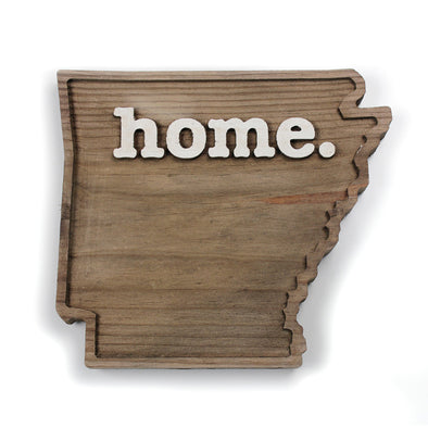 home. Wooden Plaques - Arkansas