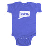 born. Baby Bodysuit - Connecticut