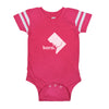 born. Football Baby Bodysuit - Washington DC