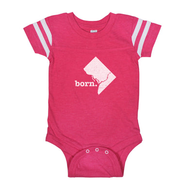 born. Football Baby Bodysuit - DC