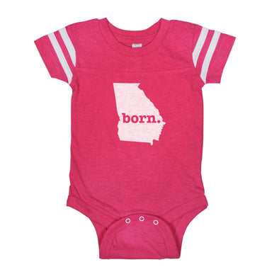 born. Football Baby Bodysuit - Georgia
