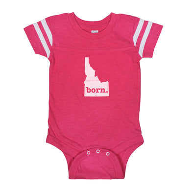 born. Football Baby Bodysuit - Idaho