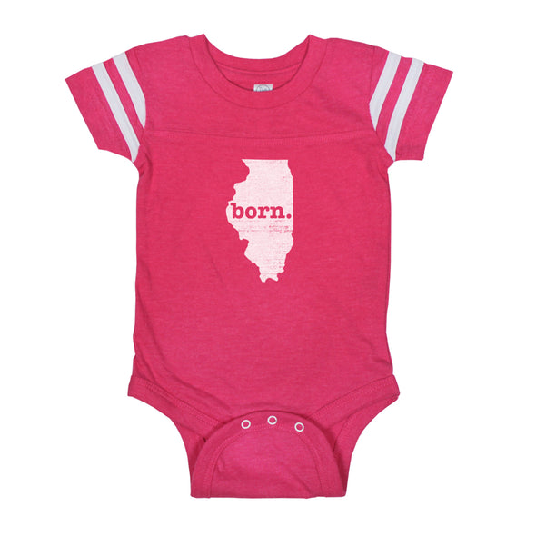 born. Football Baby Bodysuit - Illinois