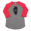 home. Men's Unisex Raglan - Illinois
