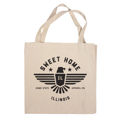 Sweet Home Canvas Tote Bag - Illinois