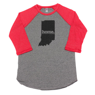 home. Men's Unisex Raglan - Indiana