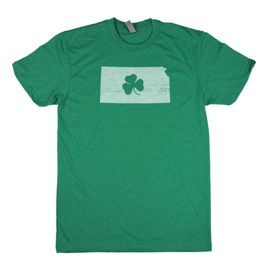 Shamrock Men's Unisex T-Shirt - Kansas
