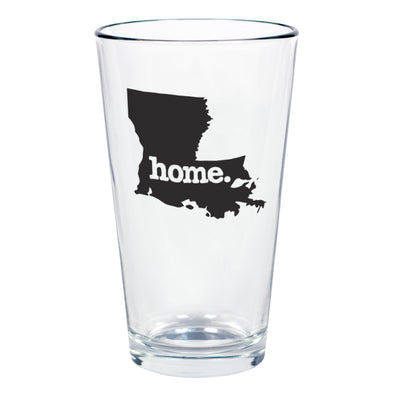 home. Pint Glass - Louisiana