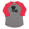 home. Men's Unisex Raglan - Louisiana