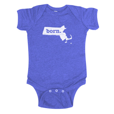 born. Baby Bodysuit - Massachusetts