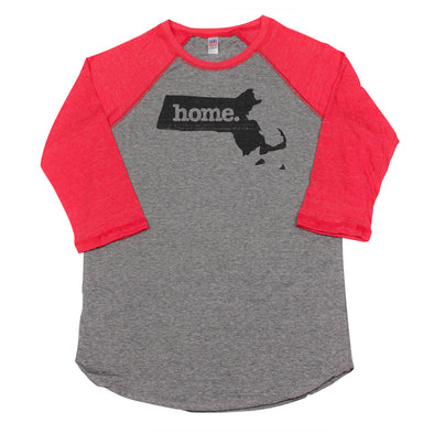 home. Men's Unisex Raglan - Massachusetts