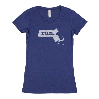 run. Women's T-Shirt - Massachusetts