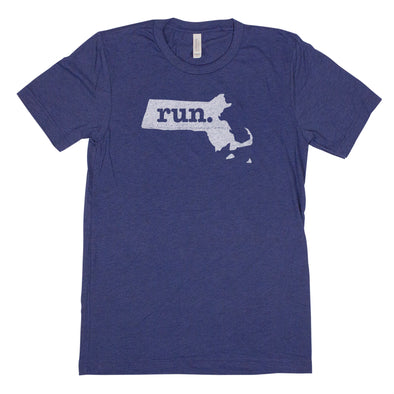 run. Men's Unisex T-Shirt - Massachusetts